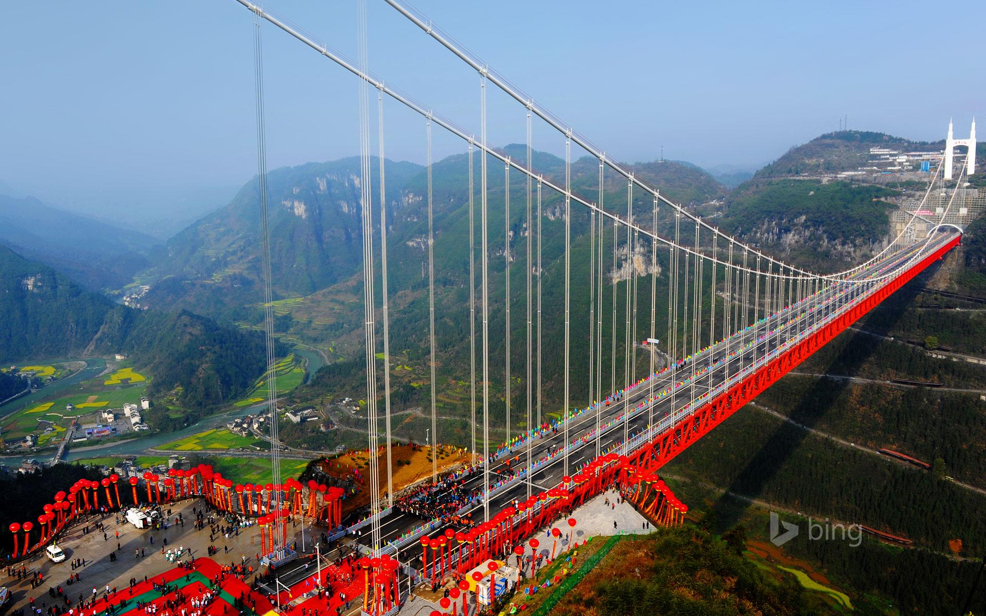 Hình nền Bing cây cầu khổng lồ