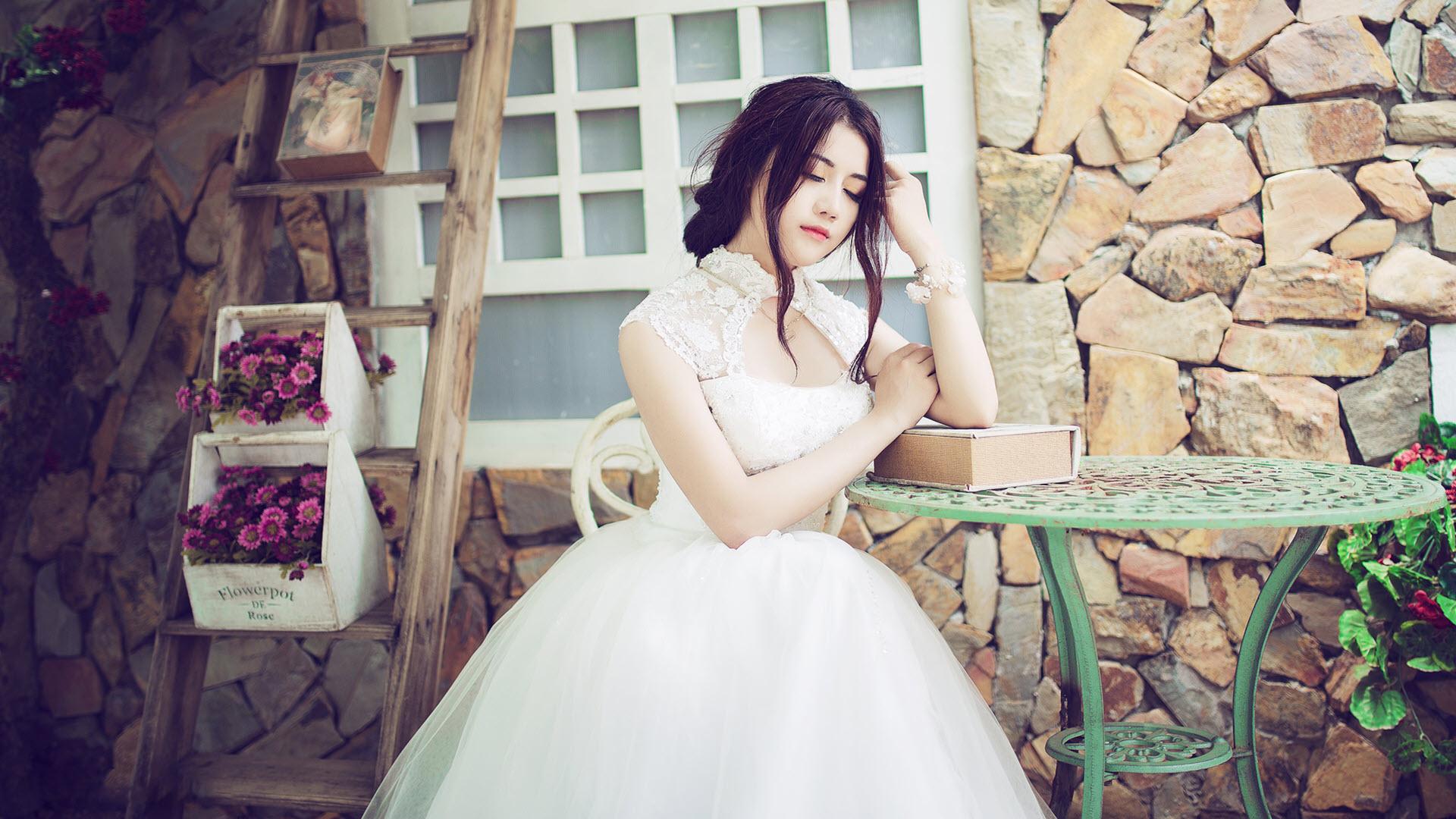 Hình nền hotgirl áo cưới