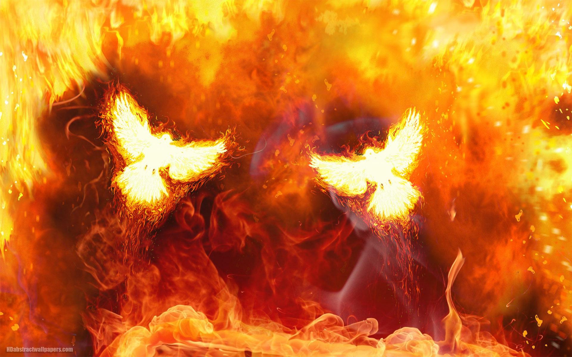 Hình nền máy tính rực lửa