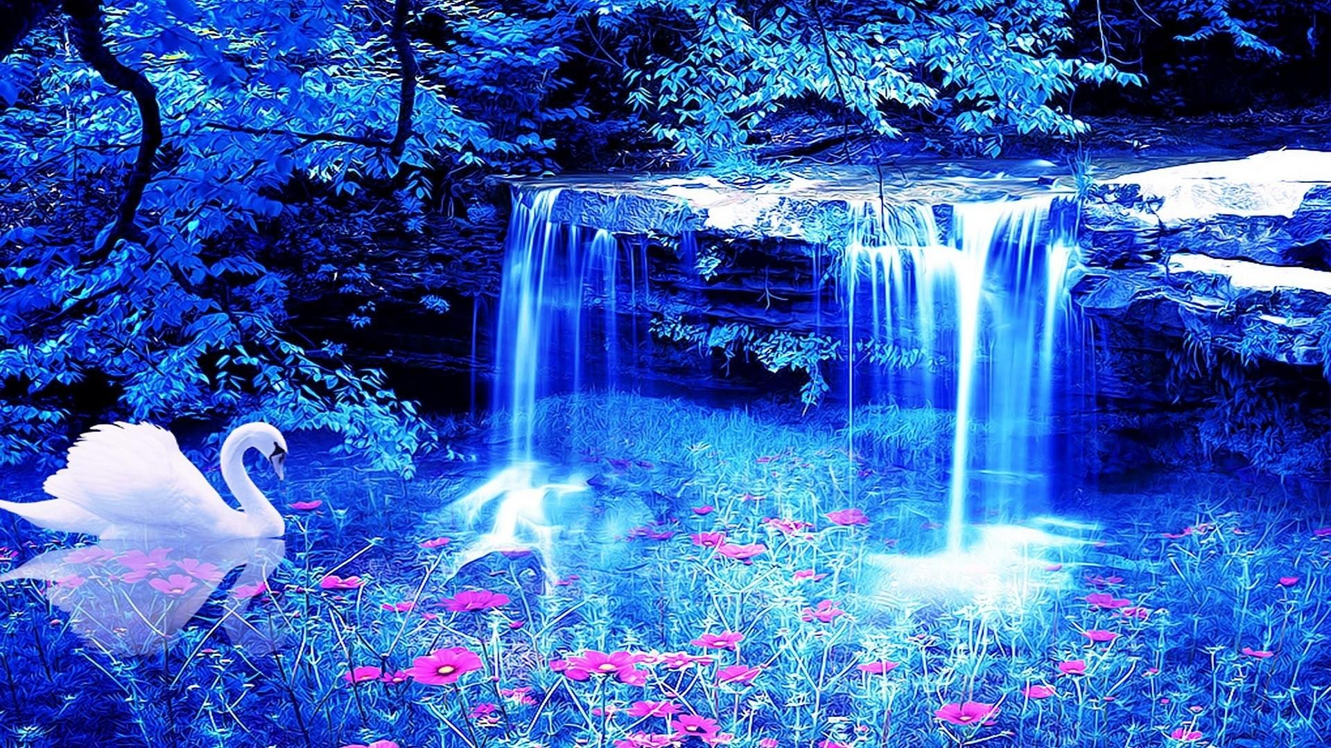 Hình nền nghệ thuật thác nước cực đẹp