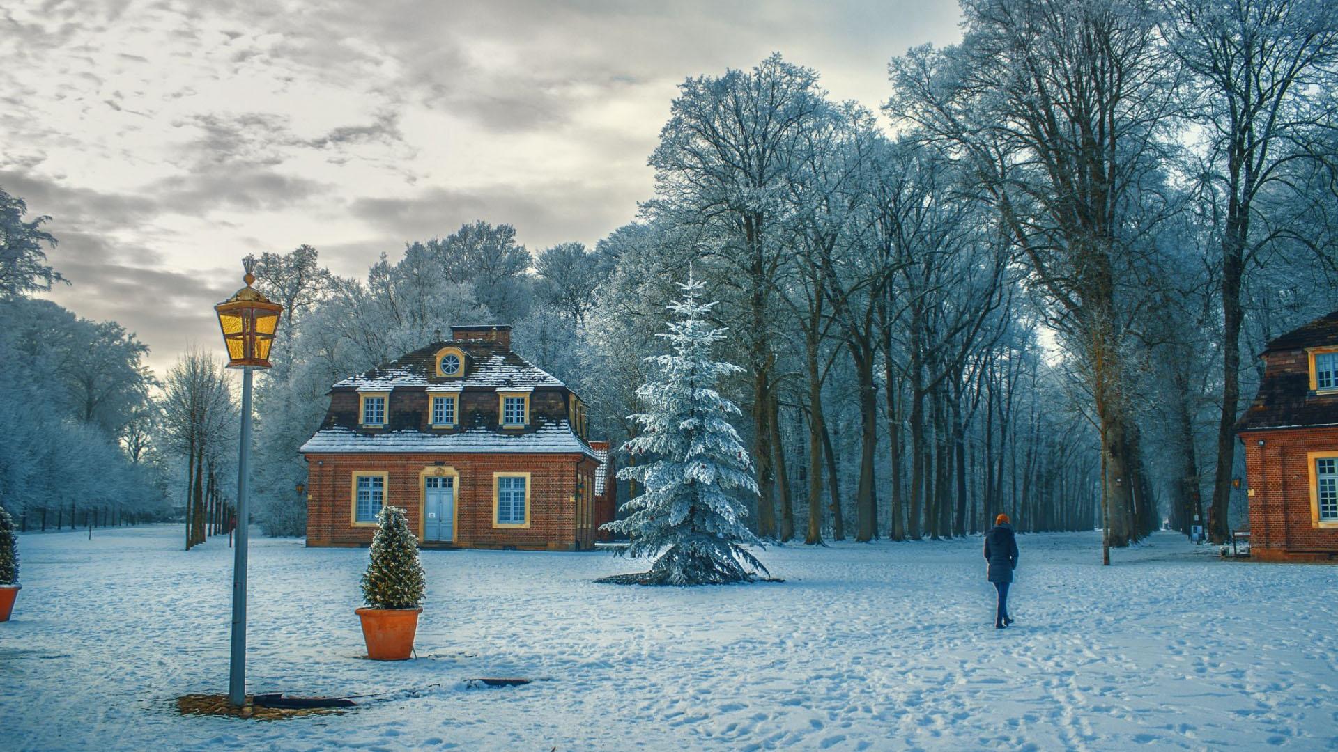 Hình nền ngôi nhà mùa đông