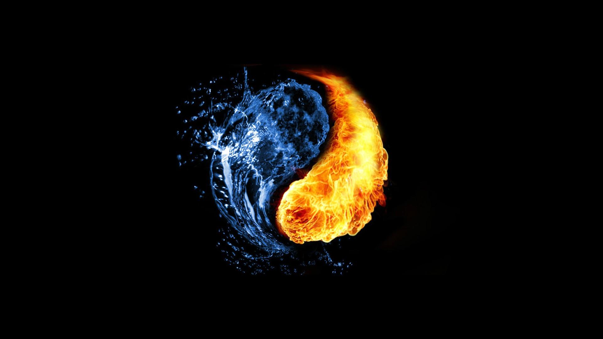 Hình nền nước và lửa cực đẹp