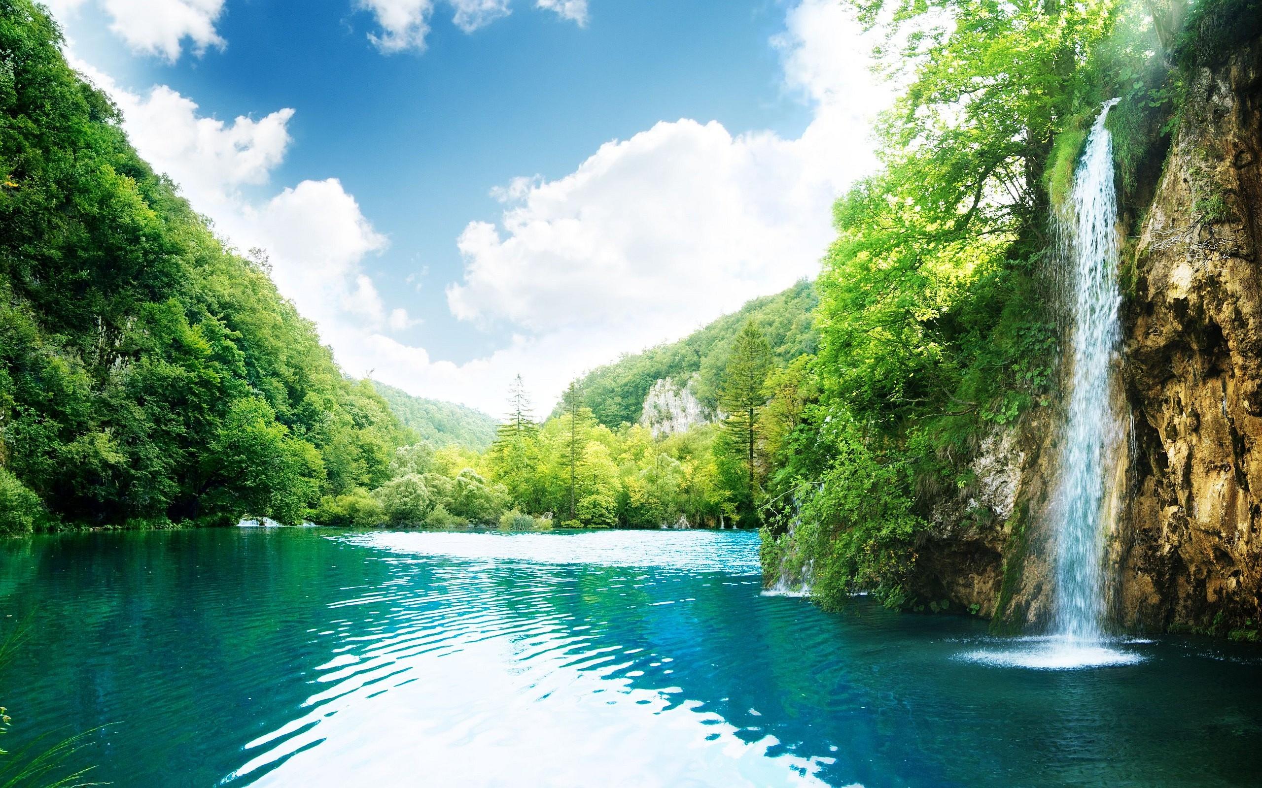 Hình nền thác nước chảy đẹp (2)