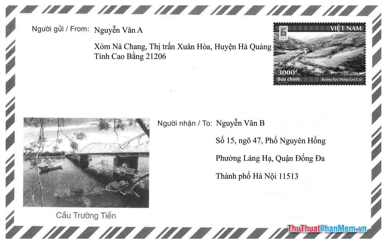 Cách ghi mã bưu chính khi gửi thư