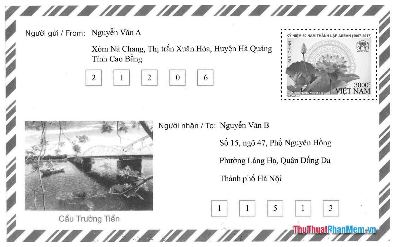 Cách ghi mã bưu điện khi gửi thư