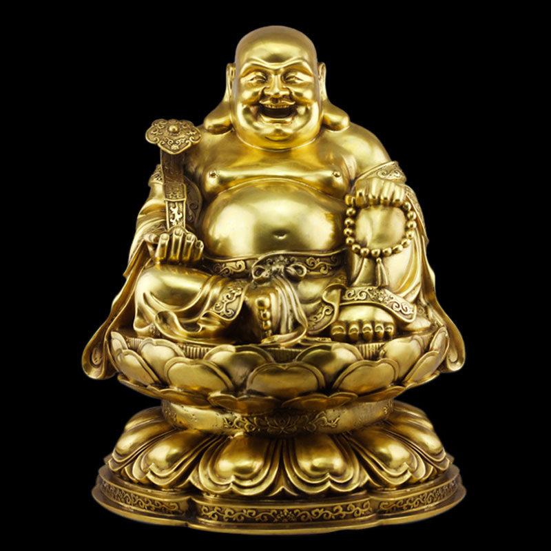 Hình ảnh tượng Phật Di Lặc bằng đồng đẹp