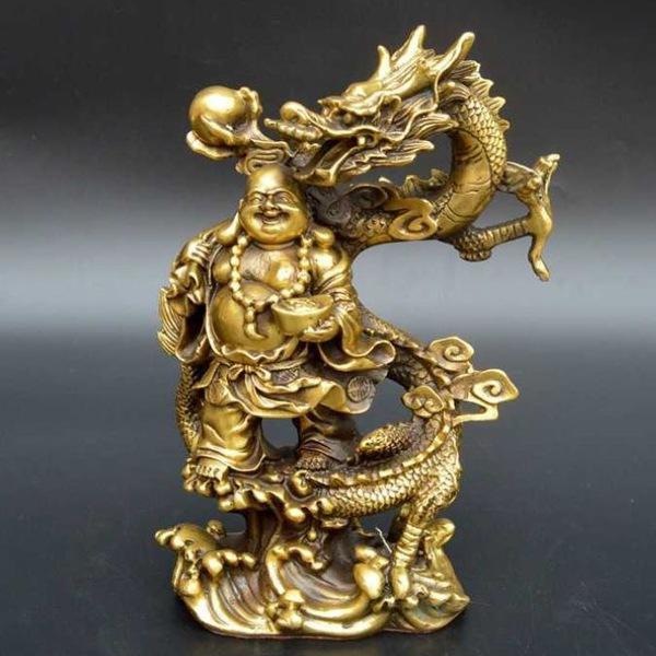 Hình Phật Di Lặc cưỡi rồng