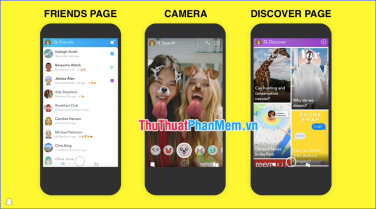 Snapchat Discover và Live Stories