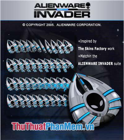 Trỏ chuột 3D Alienware Invader
