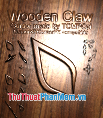 Trỏ chuột 3D Wooden Claw