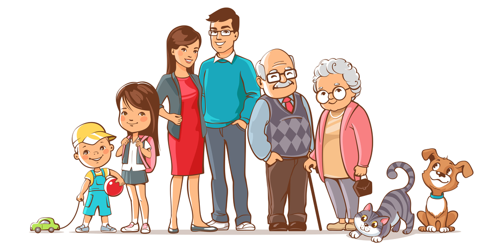 Bức tranh vẽ đại gia đình