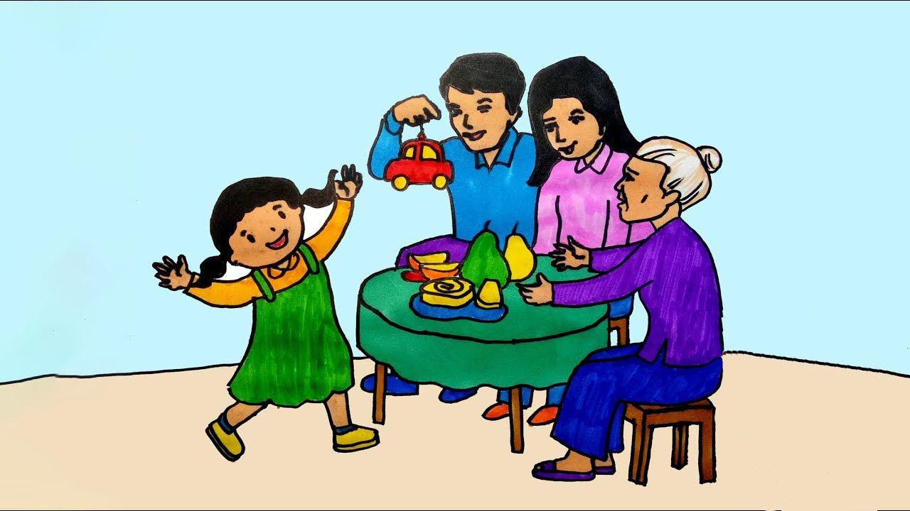 Bức tranh về gia đình