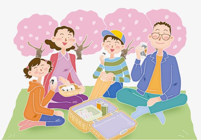 Bức tranh vẽ về gia đình hạnh phúc