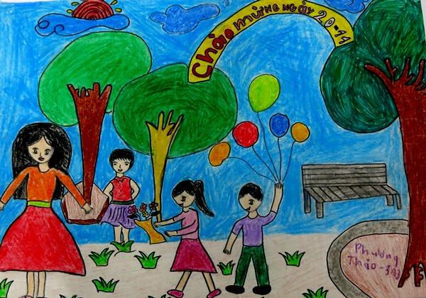 Những bức tranh vẽ về ngày nhà giáo Việt Nam