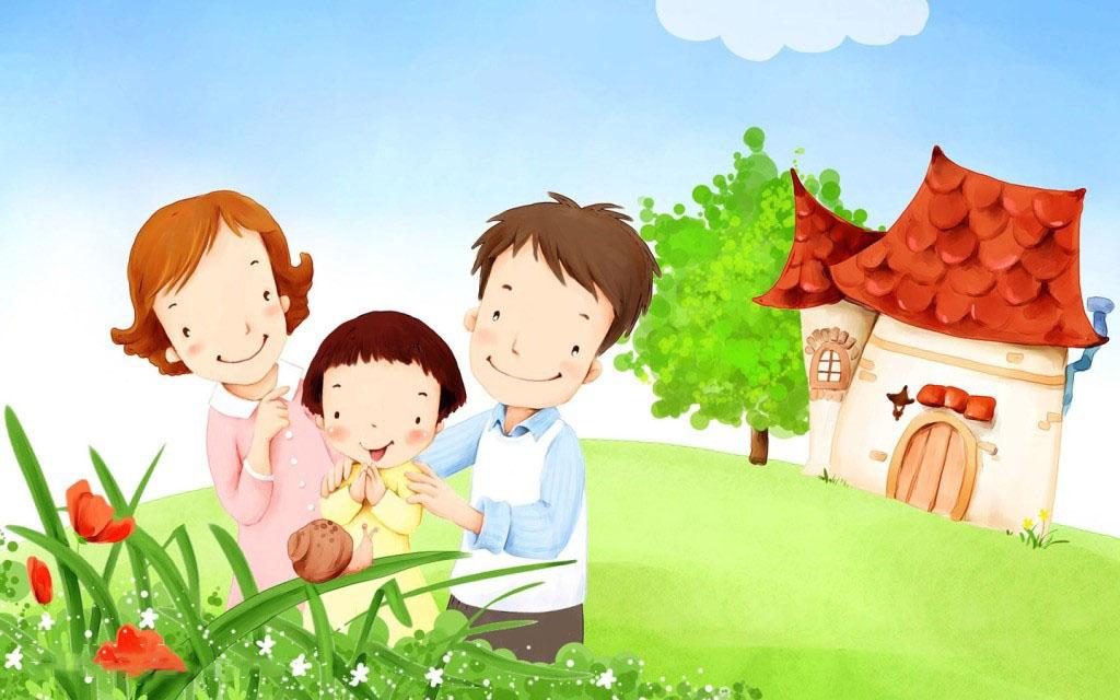Những tranh vẽ gia đình hạnh phúc