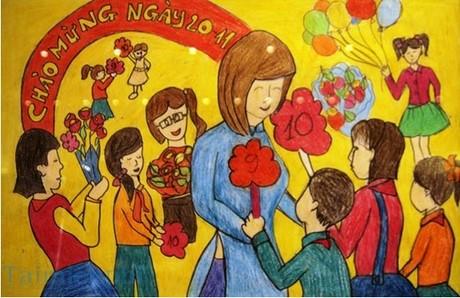 Tranh ảnh về ngày nhà giáo Việt Nam 20-11