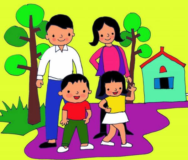 Tranh thiếu nhi vẽ mái ấm gia đình