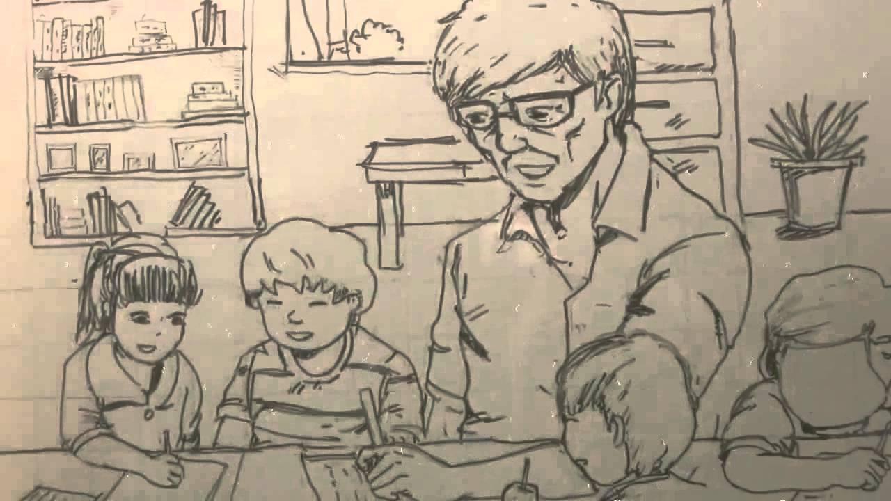 Tranh vẽ đề tài 20-11, tranh ngày nhà giáo Việt Nam đẹp và ý