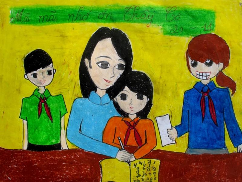 Tranh vẽ đề tài nhà giáo