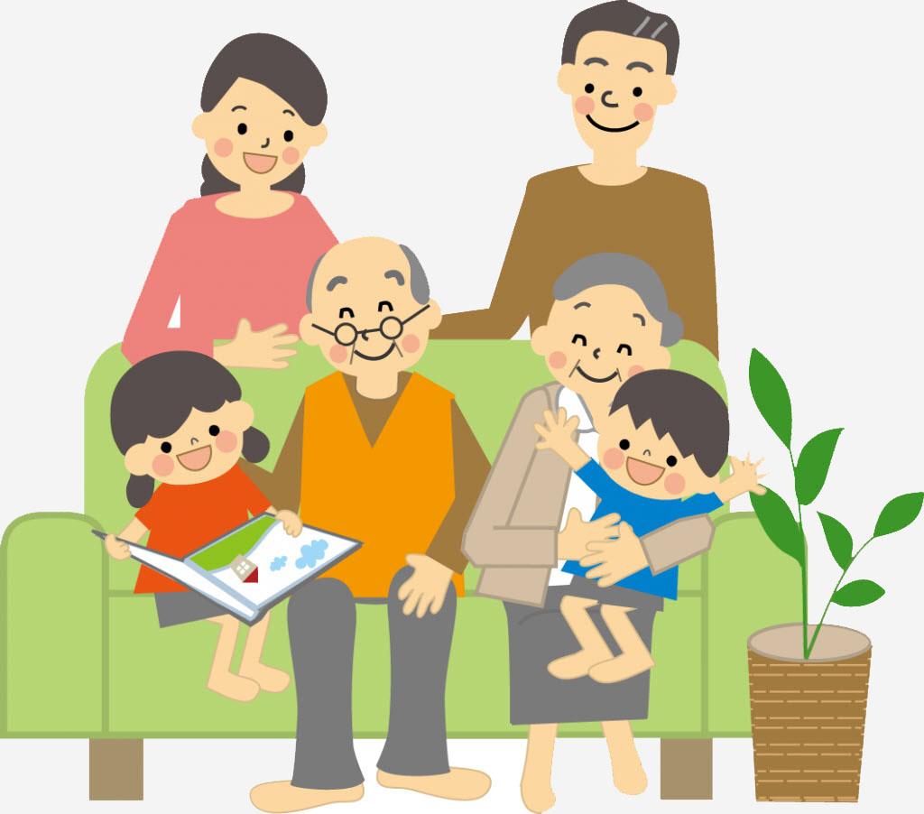 Tranh vẽ gia đình đầm ấm