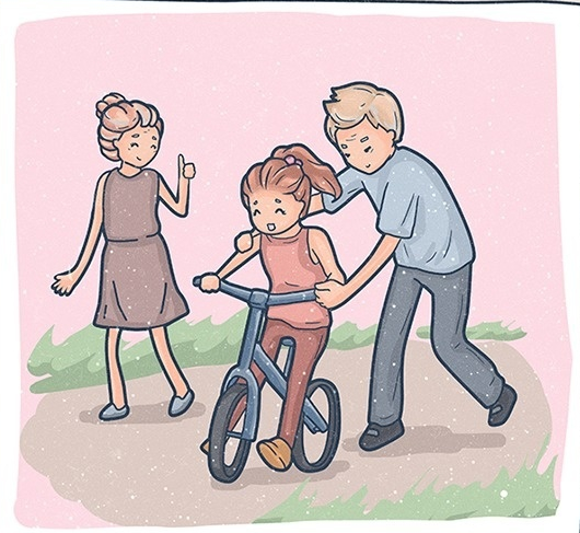 Tranh vẽ gia đình đi chơi