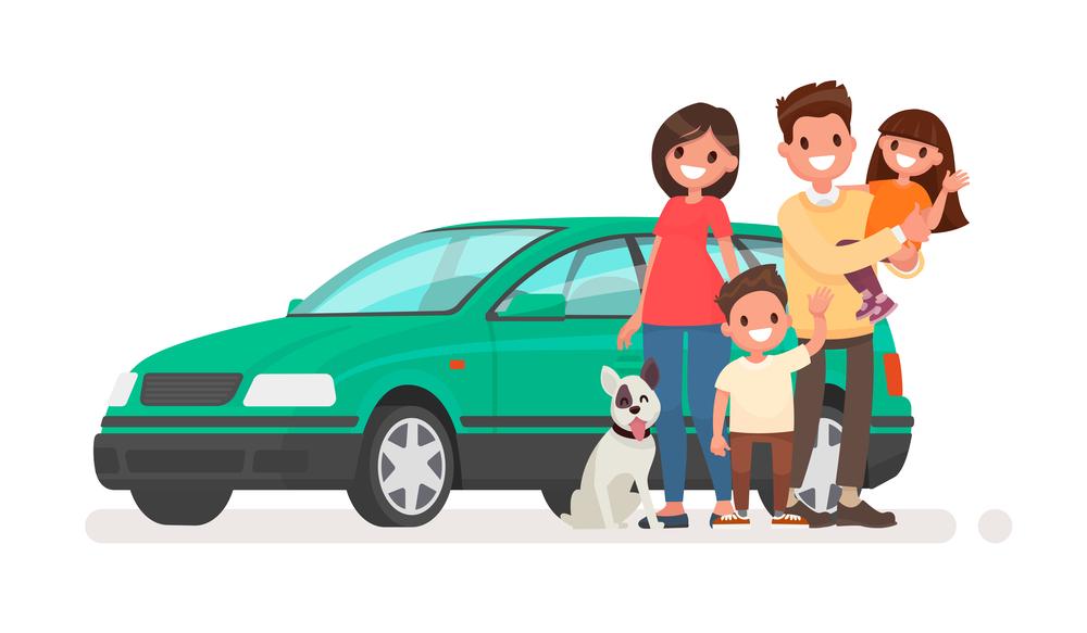 Tranh vẽ gia đình hạnh phúc