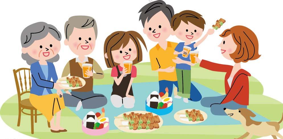 Tranh vẽ gia đình sum vầy hạnh phúc