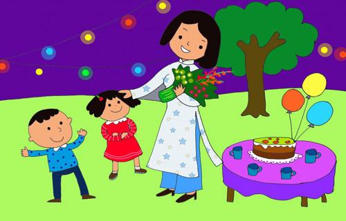 Tranh về ngày nhà giáo Việt Nam