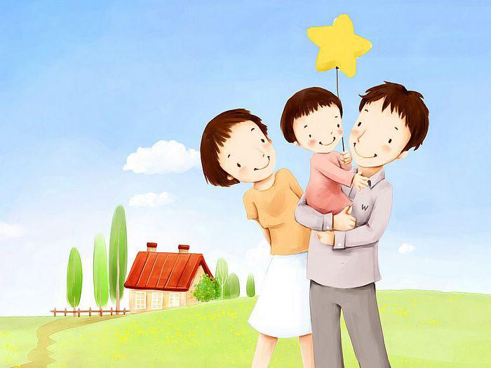 Tranh vẽ tô màu của học sinh đề tài gia đình
