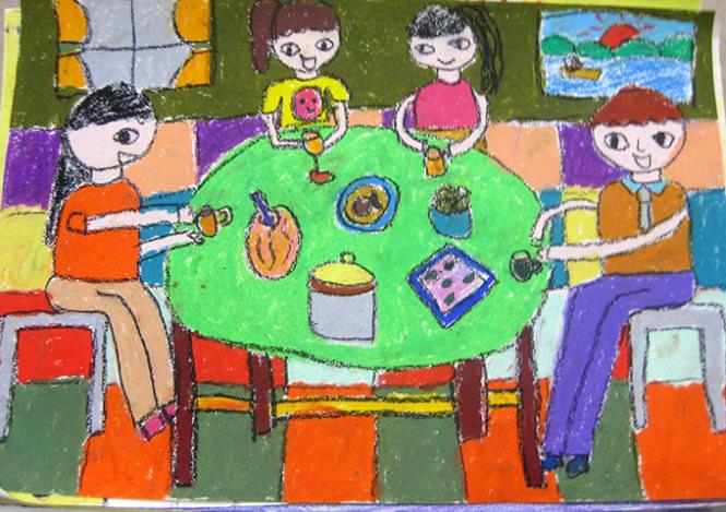 Tranh vẽ về đề tài gia đình
