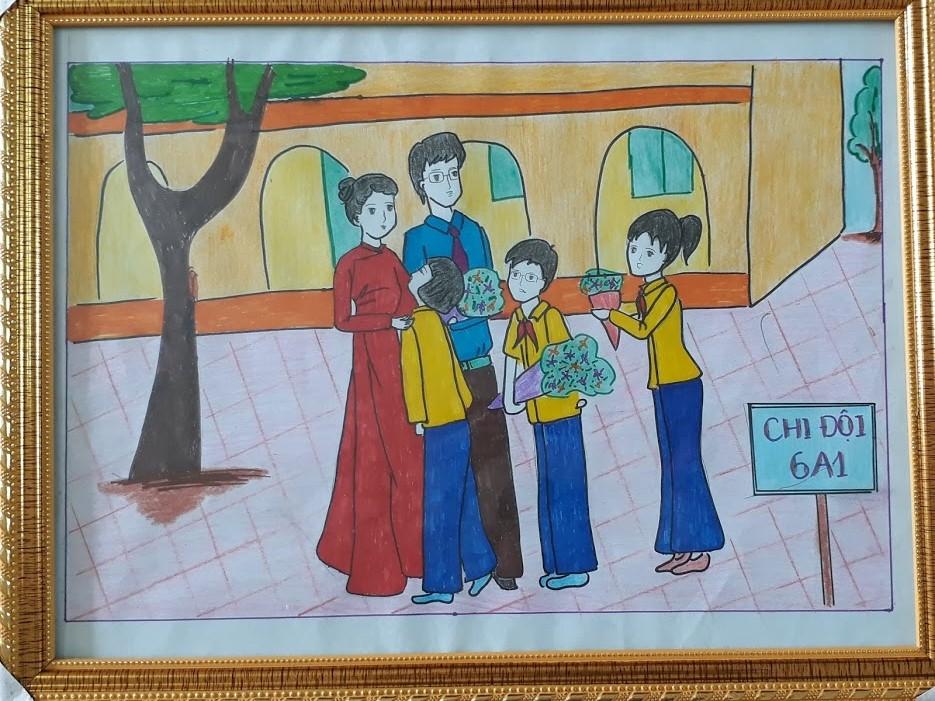 Vẽ tranh đề tài 20-11