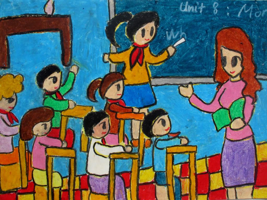 Vẽ tranh đề tài ngày nhà giáo Việt Nam đẹp nhất