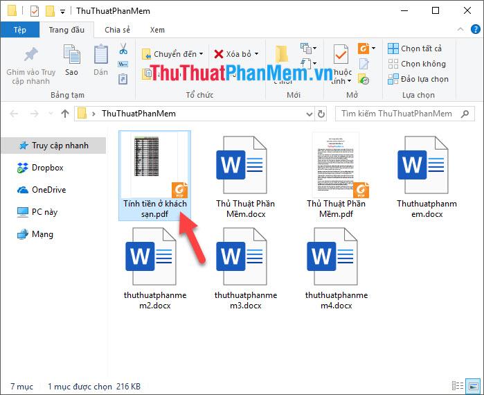 Mở file PDF đó ra