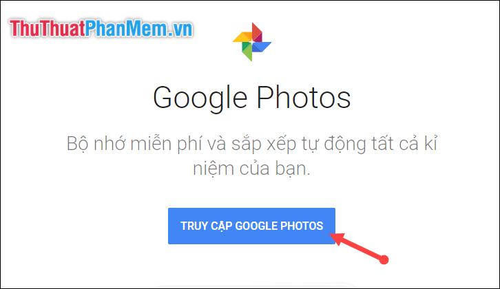 Truy cập Google Photos