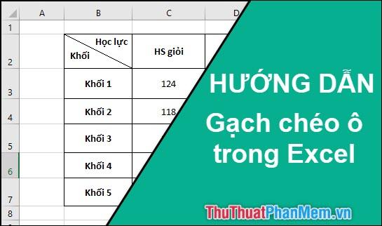 Cách gạch chéo ô trong Excel