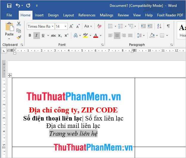 Chọn Font