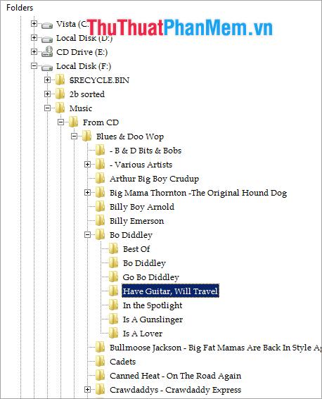 Dữ liệu lưu trong Folder