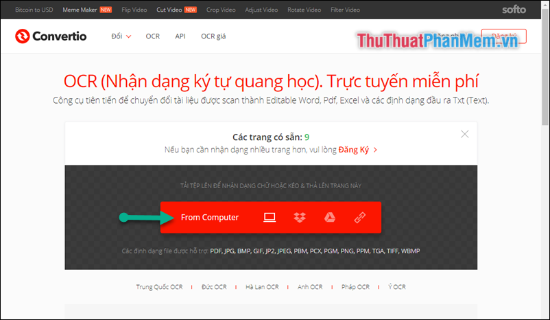Chọn From Computer