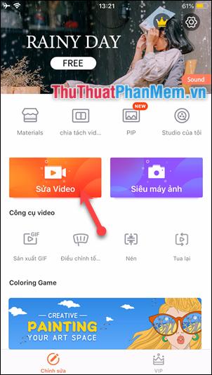 Chọn Sửa Video