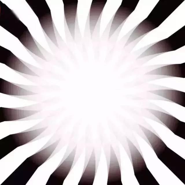 Nếu bạn càng nhìn gần vào hình thì vùng sáng sẽ càng tiến gần đến bạn nhanh hơn