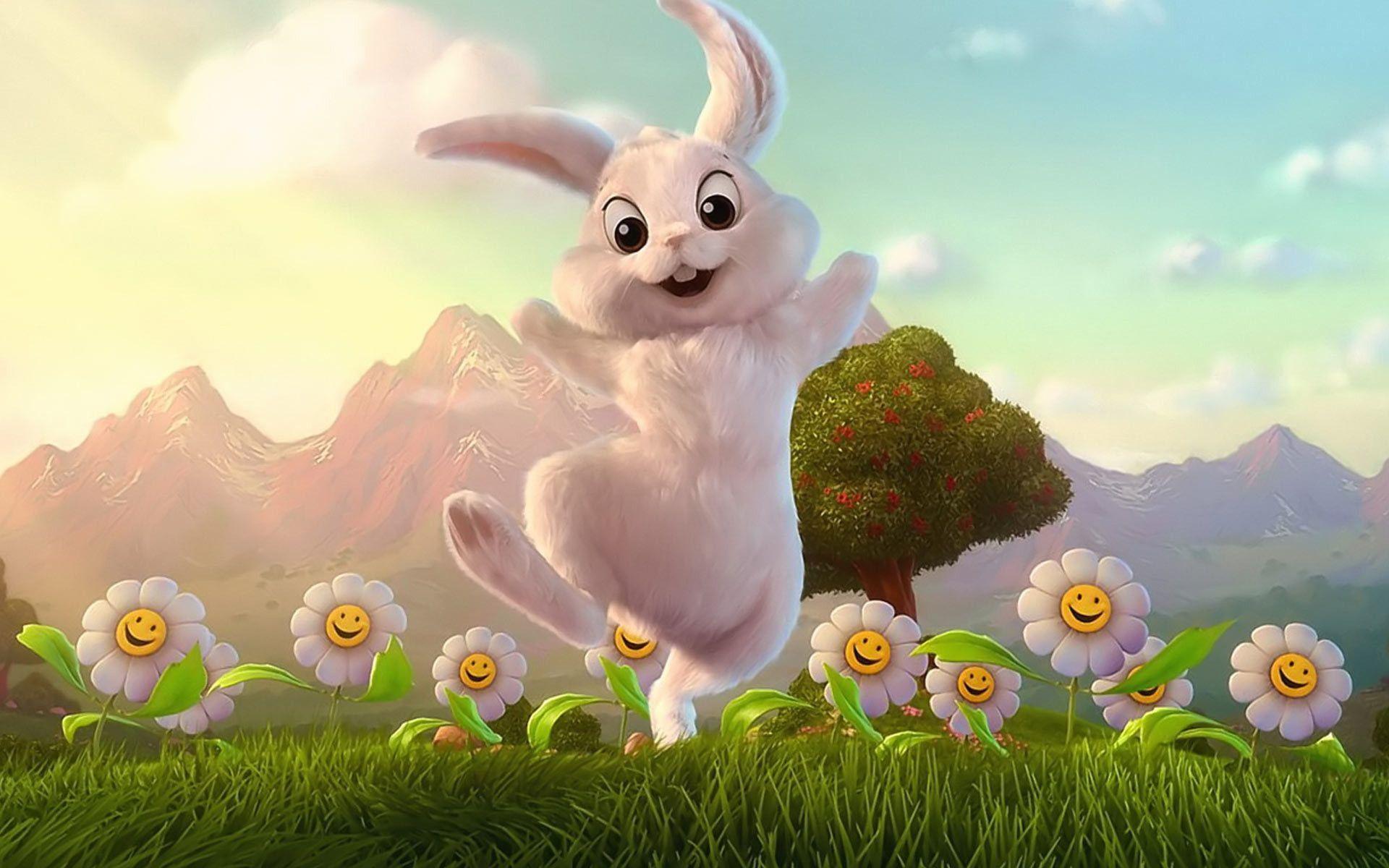 Hình ảnh con thỏ hoạt hình