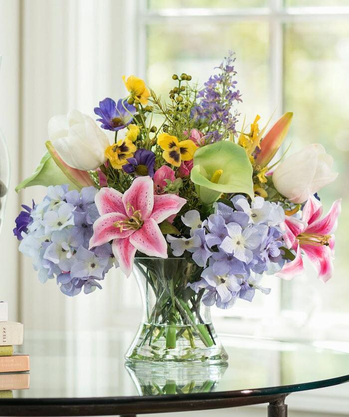 Lọ hoa nhiều màu sắc để bàn cực đẹp