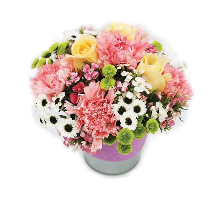 Mẫu hoa cắm tròn để bàn đẹp