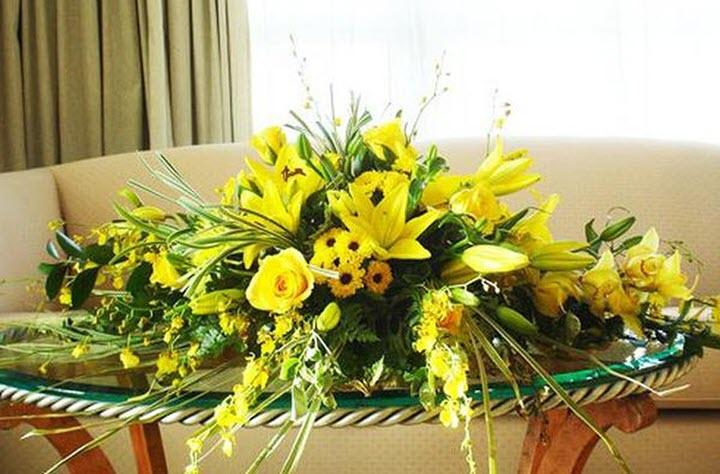 Mẫu hoa để bàn đẹp nhất