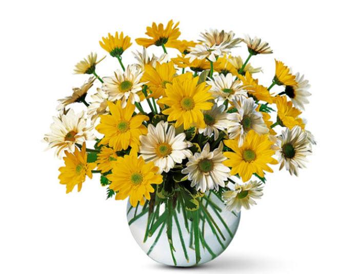 Mẫu hoa để bàn đơn giản
