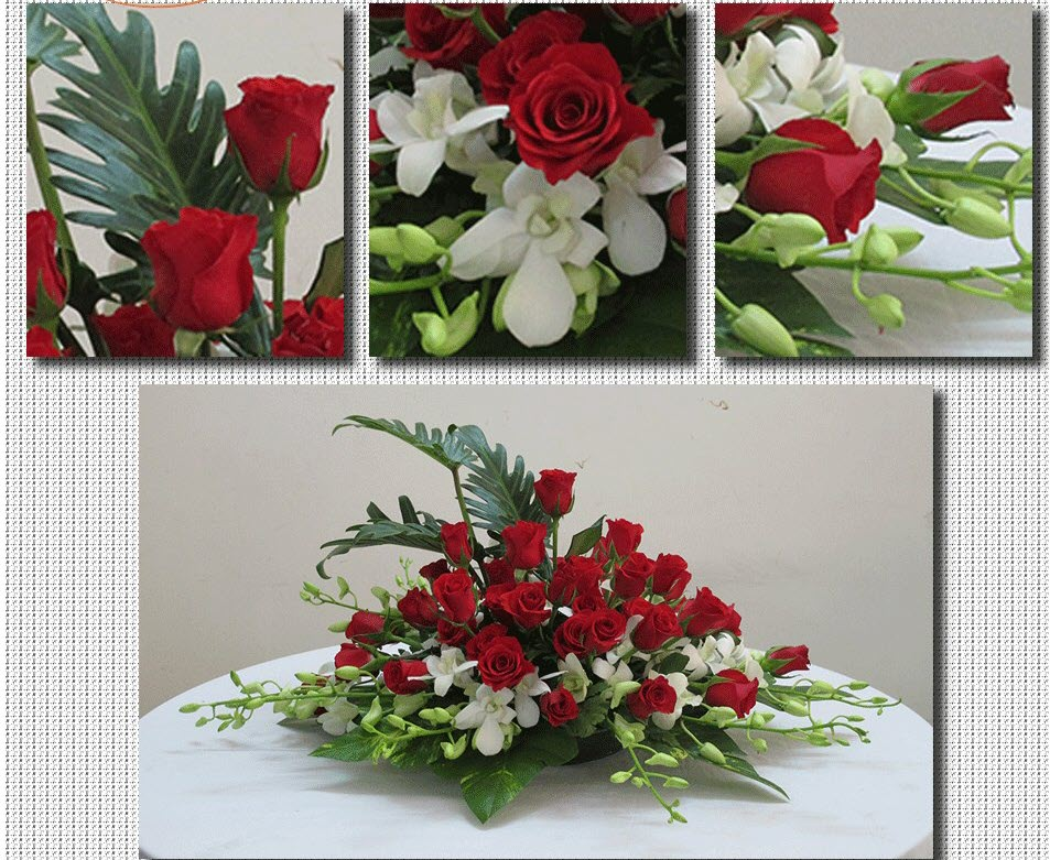 Mẫu hoa để bàn ngày cưới