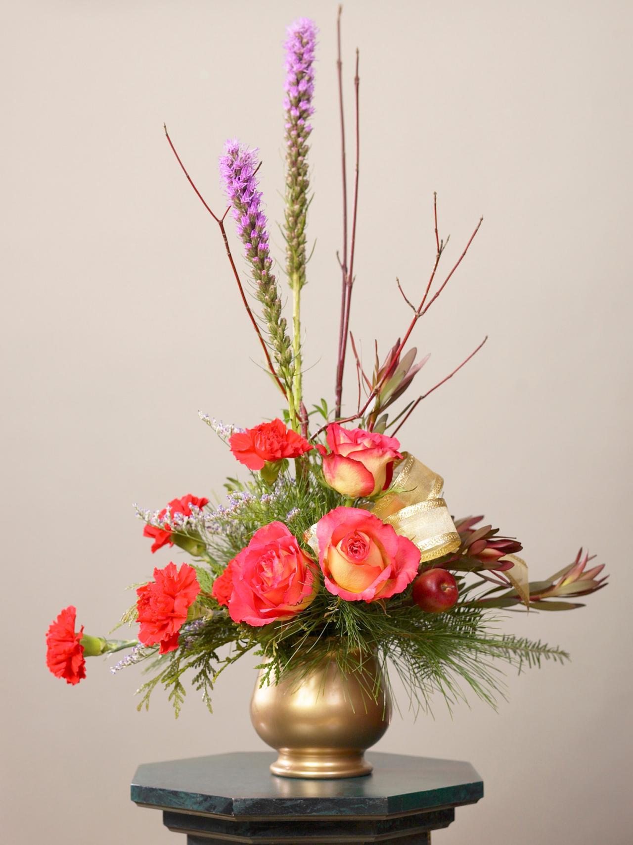 Mẫu hoa để kệ trang trí đẹp
