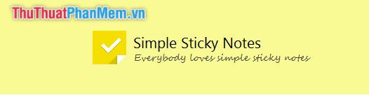 Phần mềm ghi chú Simple Sticky Notes