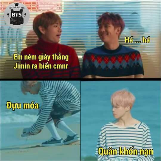 Ảnh dìm BTS ném giày nơi bờ biển