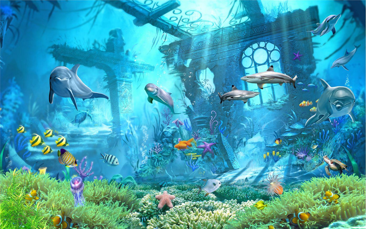 Hình 3d đẹp dưới đại dương